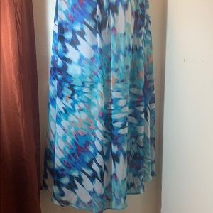 Tie Dye Sheer Maxi Skirt